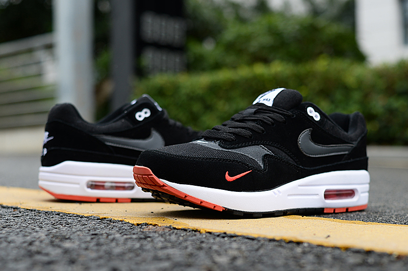 2019 Men Nike Air Max 90 Black White Orange Shoes