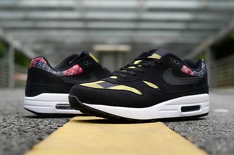2019 Men Nike Air Max 90 Black Yellow White Shoes