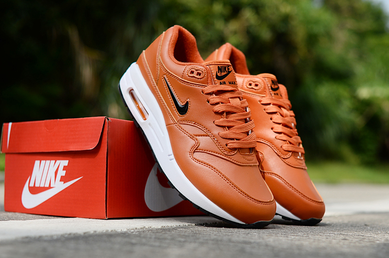 2019 Men Nike Air Max 90 Dark Orange White Shoes