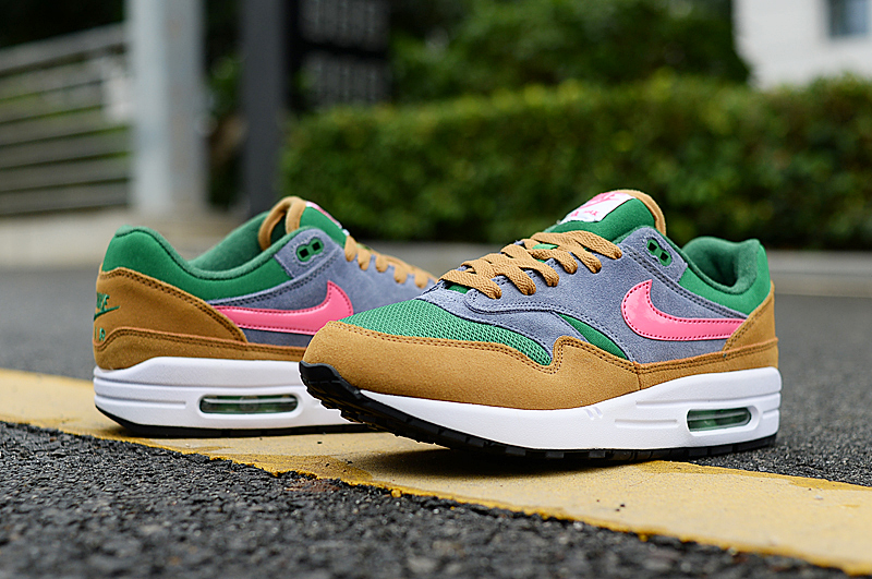 2019 Men Nike Air Max 90 Jade Green Yellow Pink Shoes
