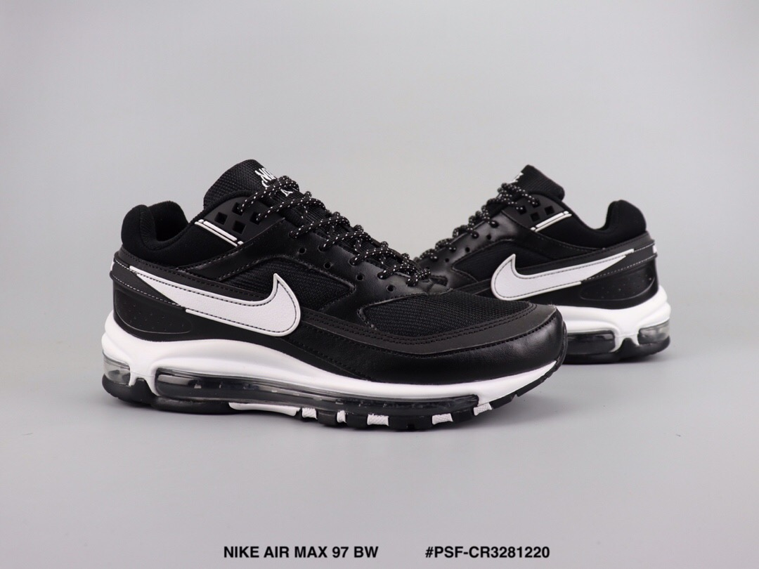 2019 Men Nike Air Max 97 BW Flywire Black White Shoes
