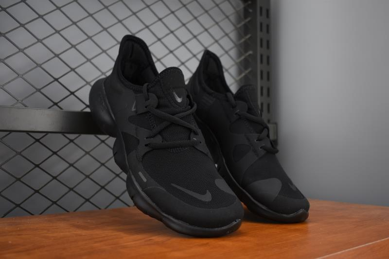 2019 Men Nike Free 5.0 All Black Training Shoes