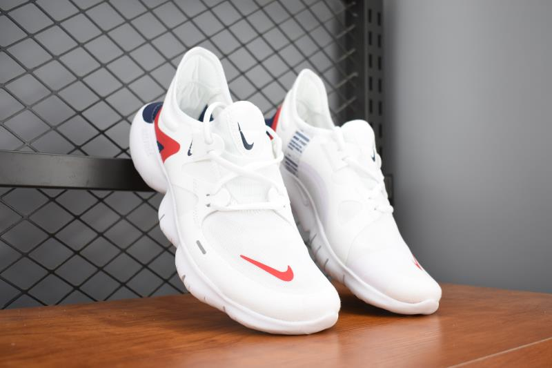 2019 Men Nike Free 5.0 White Red Training Shoes