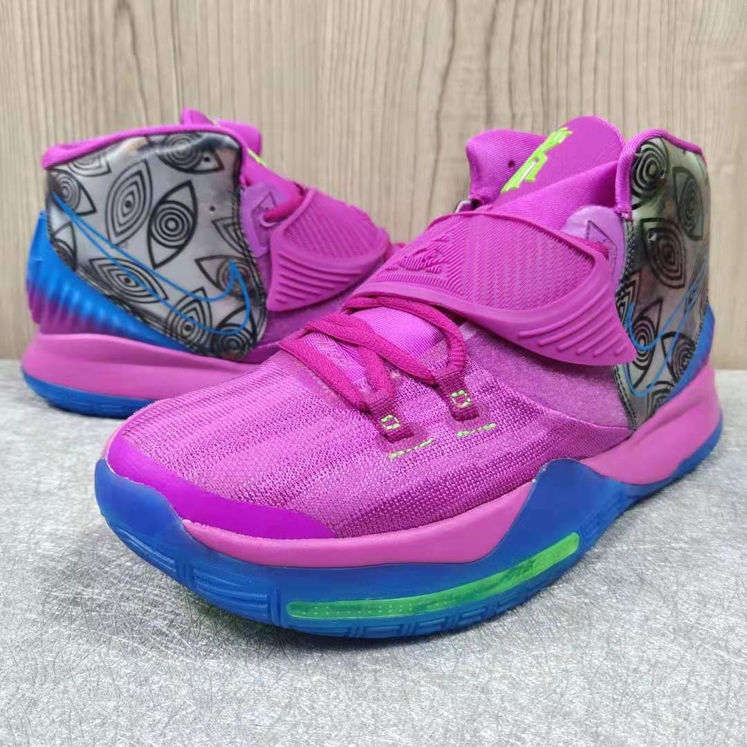 2019 Men Nike Kyrie Irving VI Purple Blue Green Colorful Shoes