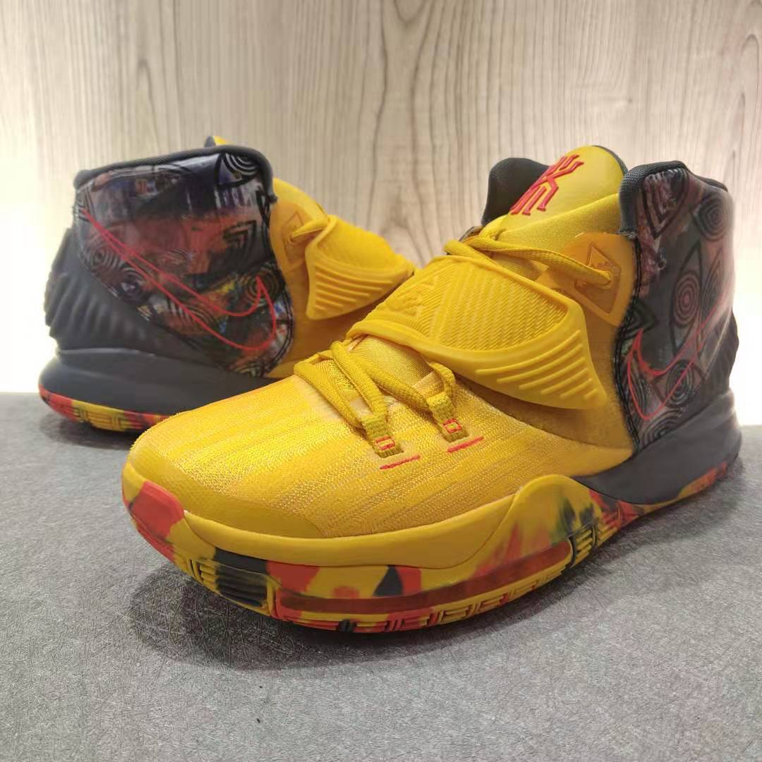 2019 Men Nike Kyrie Irving VI Yellow Red Colorful Shoes