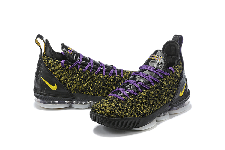 2019 Men Nike Lebron James 16 Purple Yellow Black Shoes