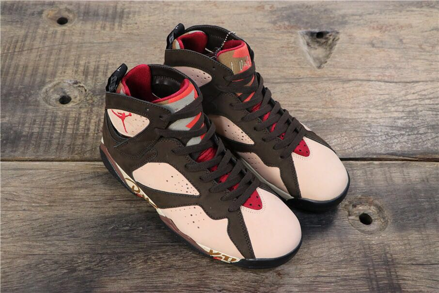 2019 Men Patta x Air Jordan 7 Black Shoes