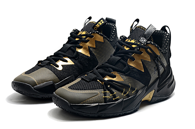 2020 Air Jordan Why Not Zer0.3 Elite Black Gold Basketball Shoes