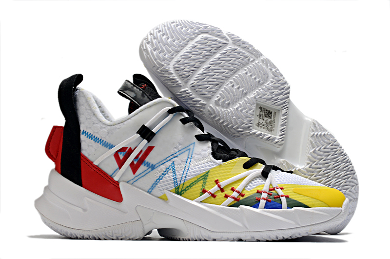 2020 Air Jordan Why Not Zer0.3 Elite White Yellow Black Red Basketball Shoes