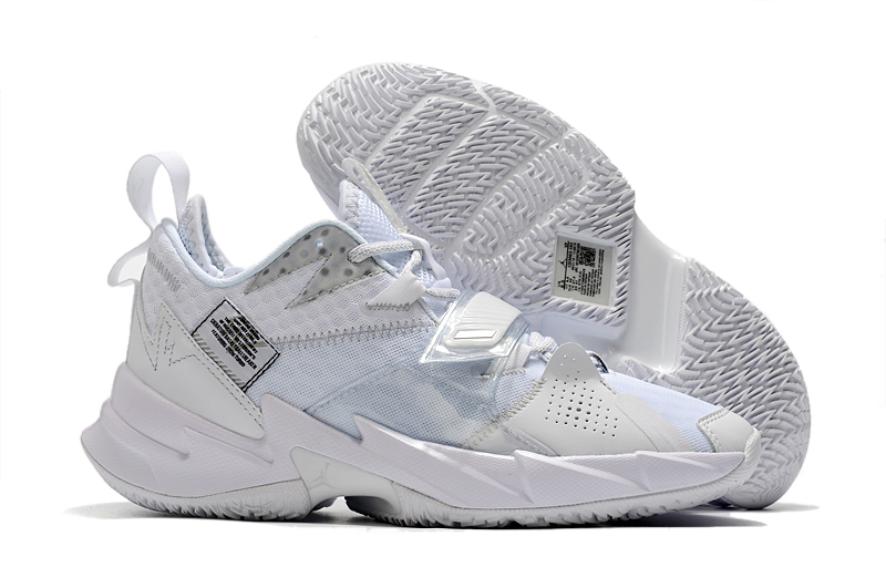 2020 Air Jordan Why Not Zero.3 All White Shoes