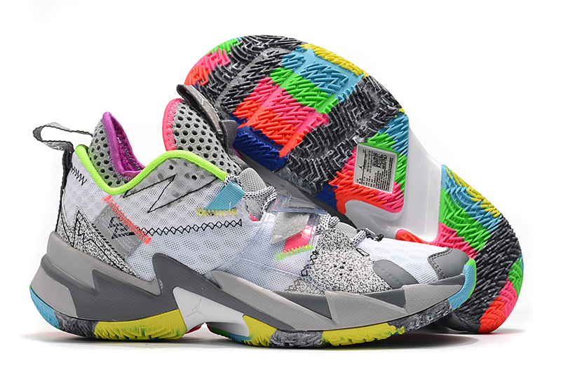 2020 Air Jordan Why Not Zero.3 White Grey Colorful Shoes