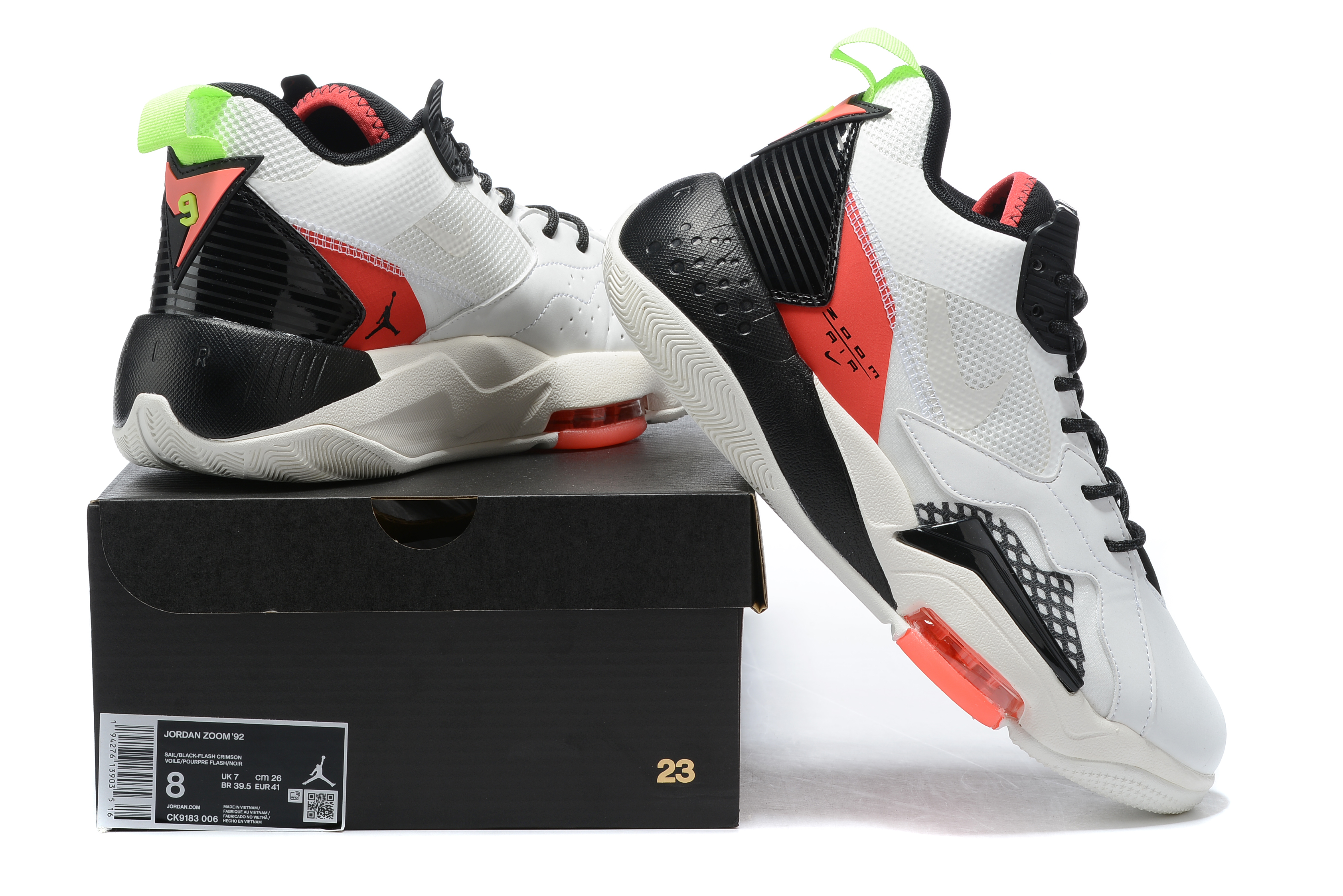 2020 Air Jordan Zoom 92 White Black Red Shoes