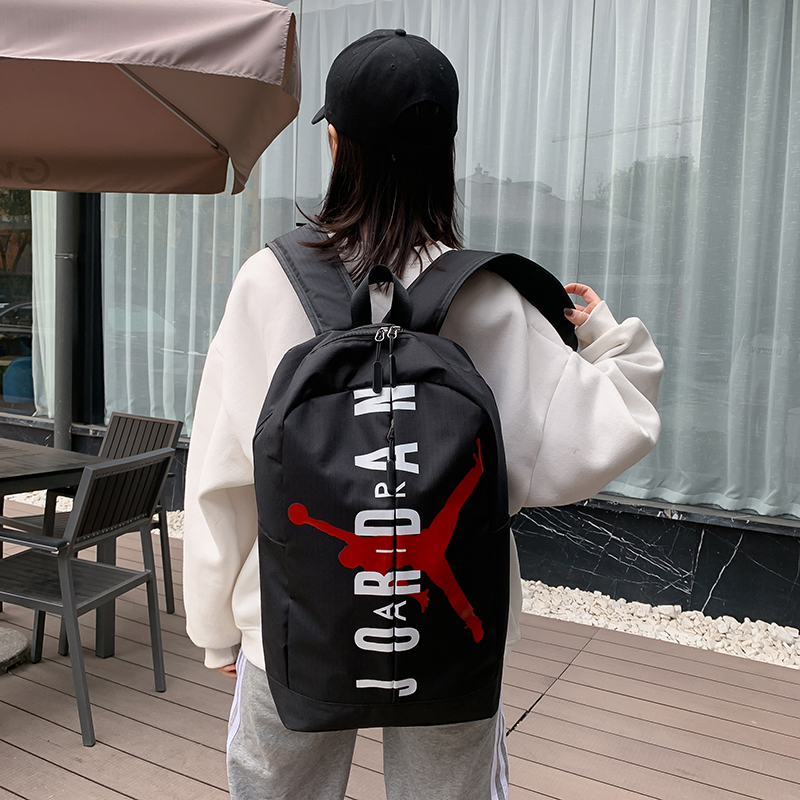 2020 Black White Red Air Jordan Backpack