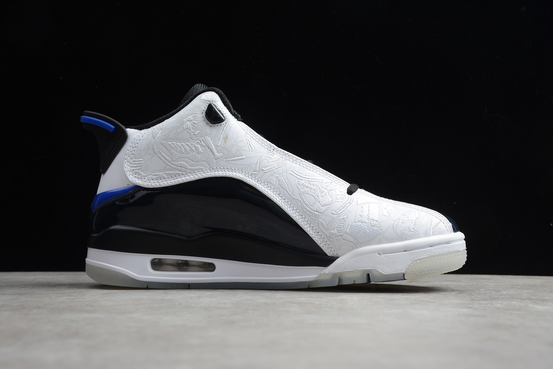 2020 Jordan DUB Zero White Black Blue Shoes