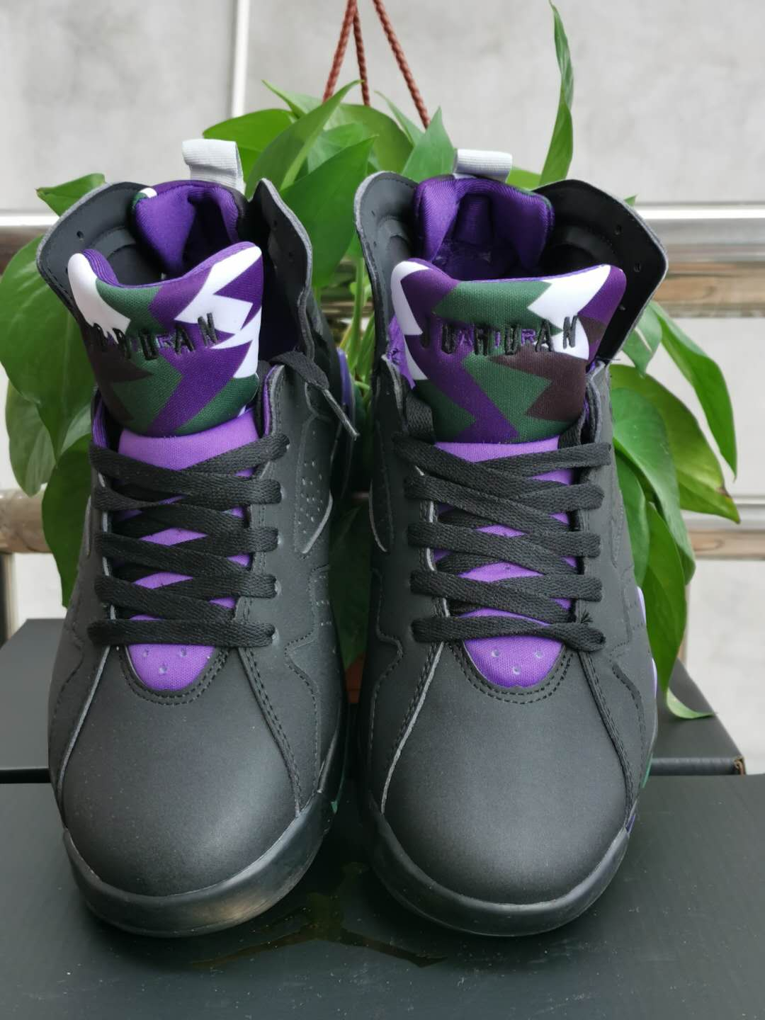2020 Air Jordan 7 Retro Black Purple Shoes For Women