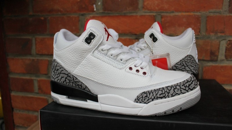 AIR JORDAN 3 White Cement GS Shoes
