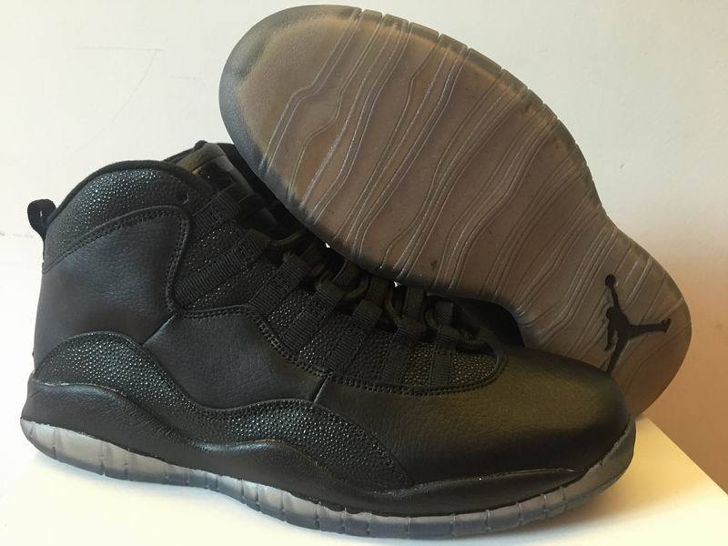 2016 Air Jordan 10 OVO All Black Shoes