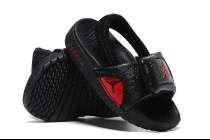 Air Jordan 12 Black Red Slipper For Toddler