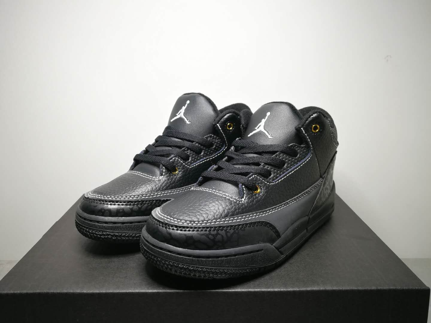 Air Jordan 3 All Black For Kids