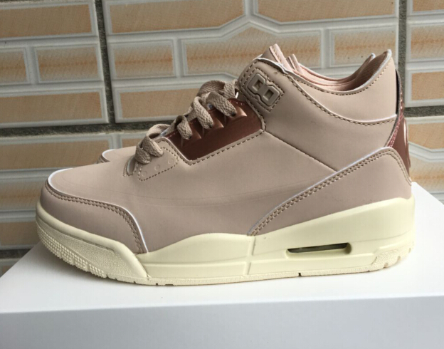 Air Jordan 3 Light Coffe Gold Shoes For Women
