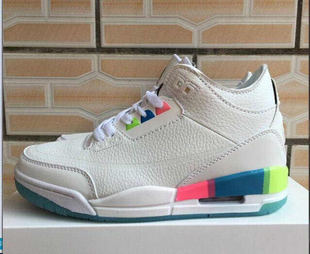 Air Jordan 3 White Rainbow For Women