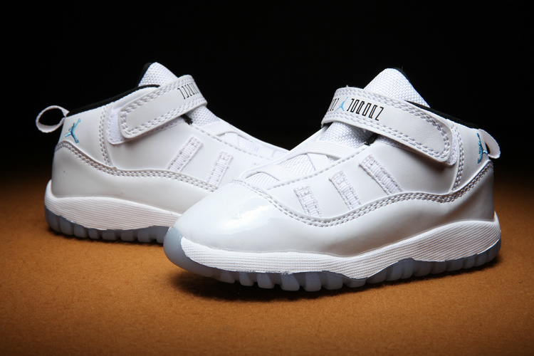 Air Jordan 11 All White Shoes For Todllers
