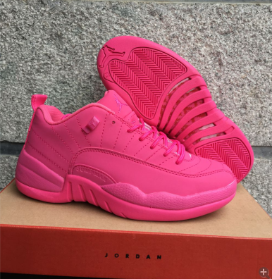 Air Jordan 12 Low GS All Pink Shoes