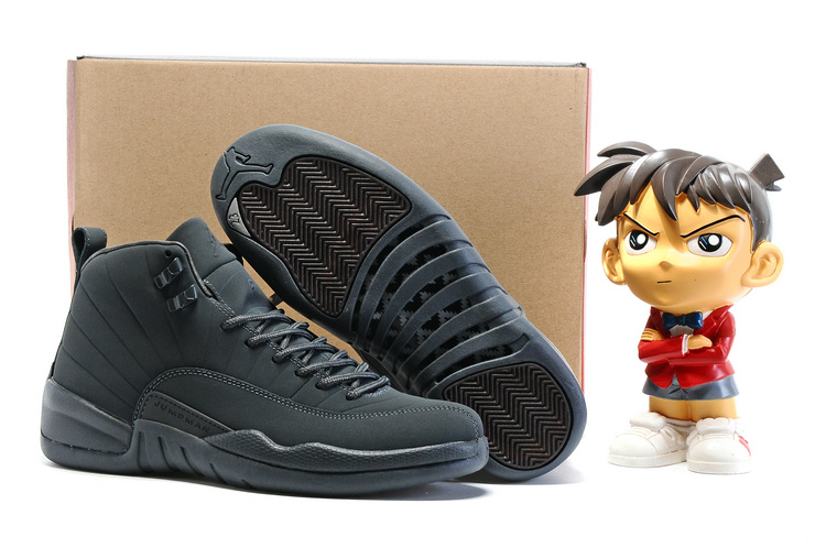 Air Jordan 12 PSNY Dark Grey Dark Grey Black