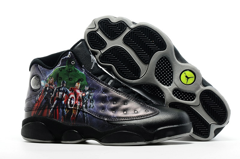 Air Jordan 13 The Avengers Black Shoes