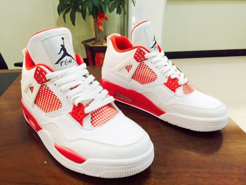 sports shoes 77830 ad133 Air Jordan 4 Alternate White Red Shoes [WOMEN1000] - $91.00 ...