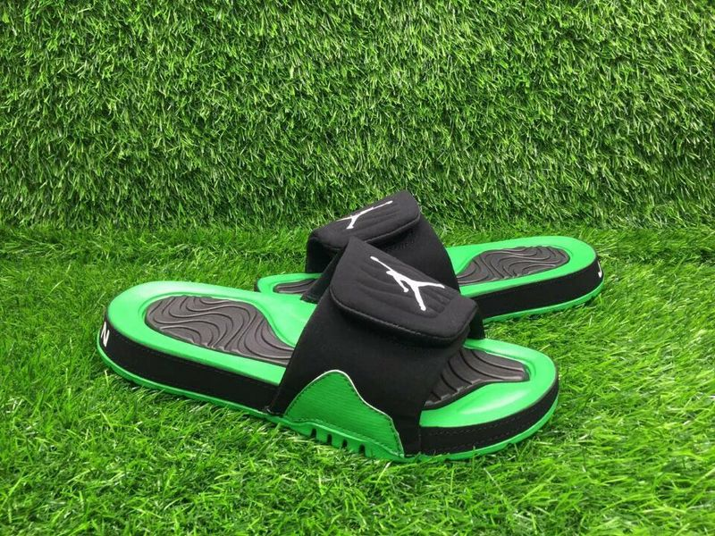 Air Jordan 4 Hydro Black Green Sandal