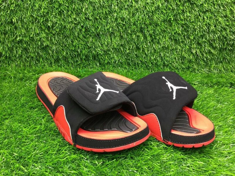 Air Jordan 4 Hydro Black Red Sandal