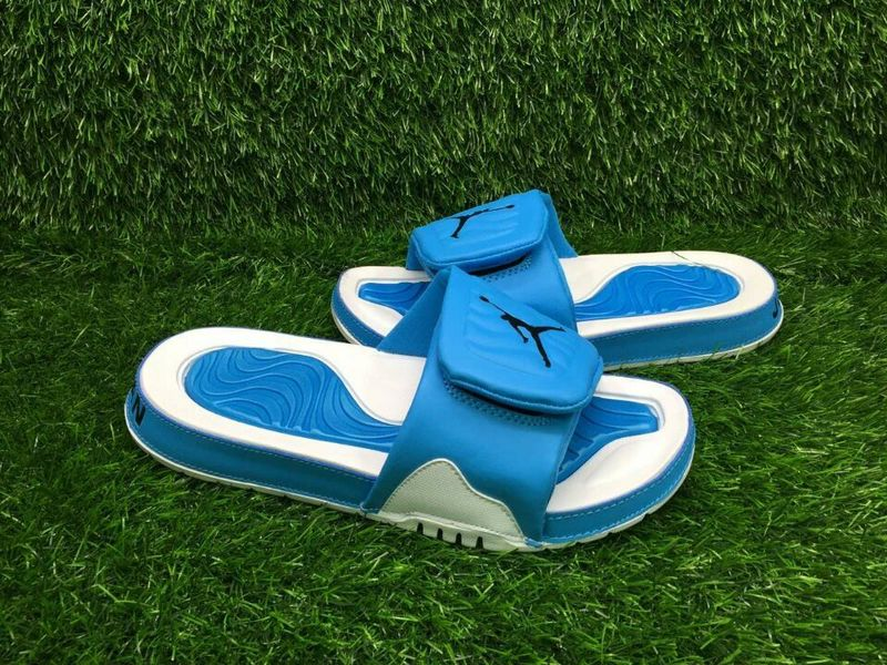Air Jordan 4 Hydro Blue White Sandal
