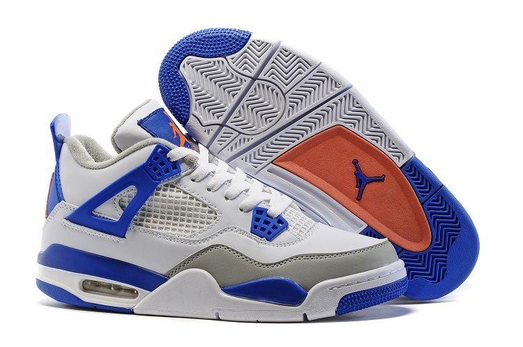 88d75a499fe ... new zealand air jordan 4 knicks white deep royal blue wolf grey hyper  orange 50a5f a90f1