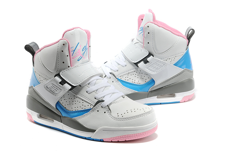Air Jordan 4.5 Flight Grey Pink Blue Shoes