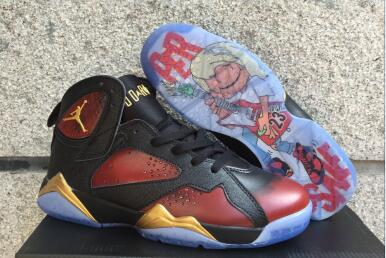 Air Jordan 7 Doernbecher Black University Red Metallic Gold