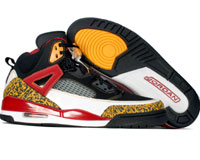 Air Jordan Spizike Black White Red Yellow Shoes