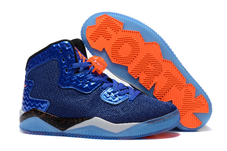 Air Jordan Spizike II Blue Orange Shoes