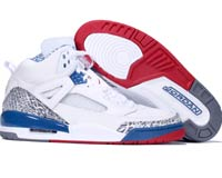 Air Jordan Spizike White Blue Red Shoes