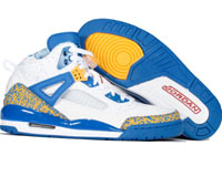 Air Jordan Spizike White Blue Yellow Shoes