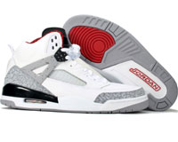 Air Jordan Spizike White Grey Black Red Shoes