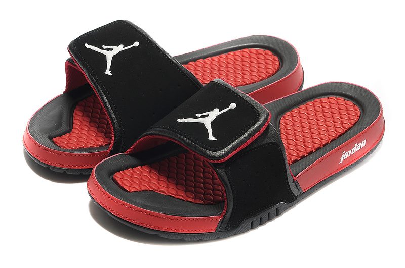 Black Red Jordan 2 Massage Sandal