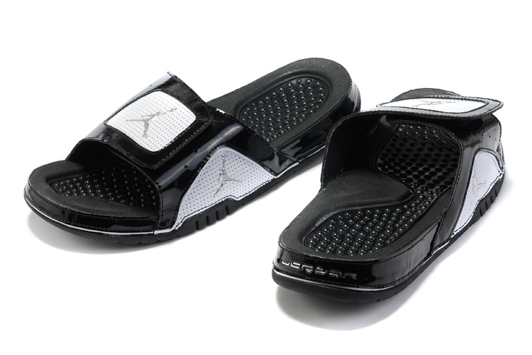 Black White Jordan 5 Massage Sandal