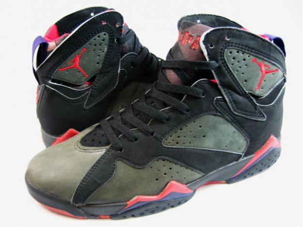 Classic Air Jordan 7 Retro OG Black Dark Charcoal True Red Shoes
