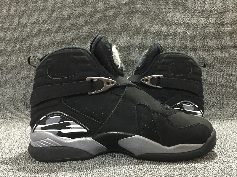 Classic Air Jordan 8 Chrome Black Shoes