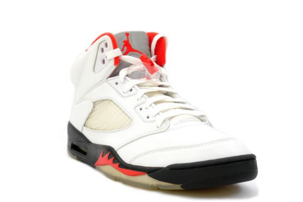 Classic Popular Air Jordan 5 Retro White Black Fire Red Shoes