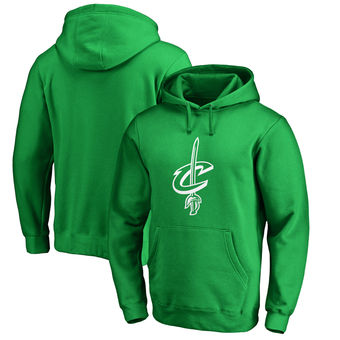 Cleveland Cavaliers Fanatics Branded St. Patrick's Day White Logo Pullover Hoodie - Kelly Green