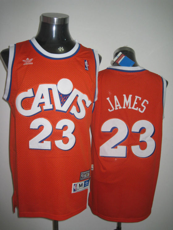 Cleveland Cavaliers James Orange White Yellow Jersey