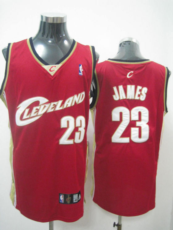 Cleveland Cavaliers James Wine Red White Jersey