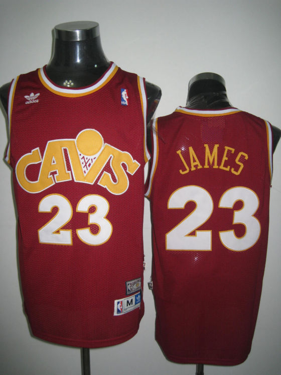 Cleveland Cavaliers James Wine Red Yellow White Jersey